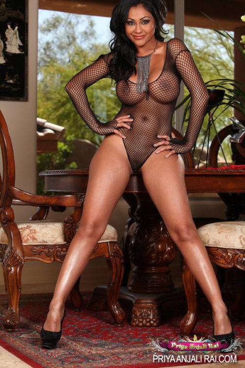 godzhelper:  Priya Rai is dolled up in her see thru body suit