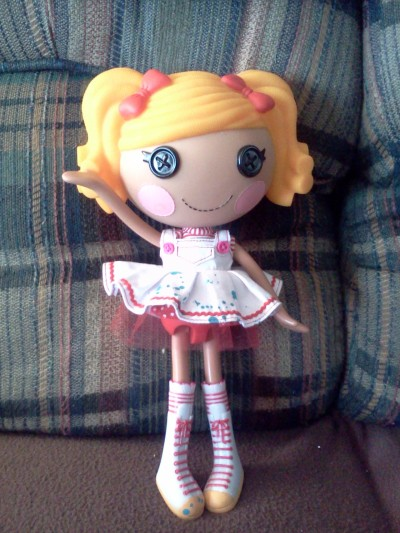 Here is a picture of my first Lalaloopsy I got at a salvation army and she is my first one as well I got her from there for $1