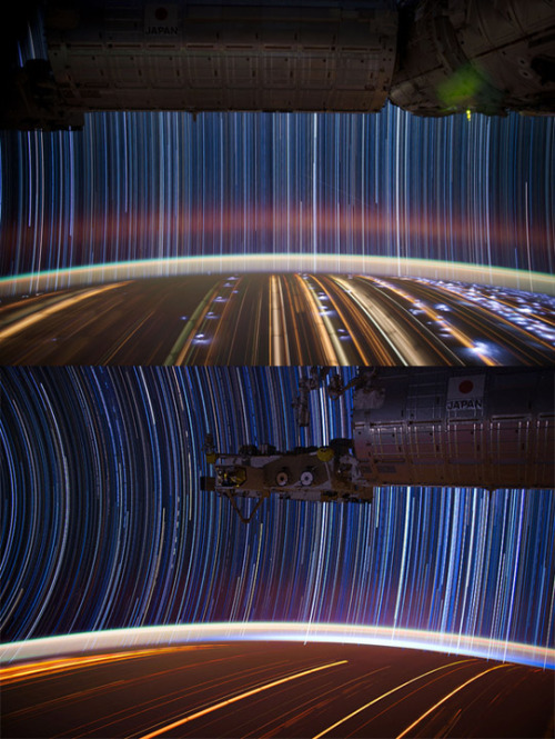 ISS time exposure | sheer beauty