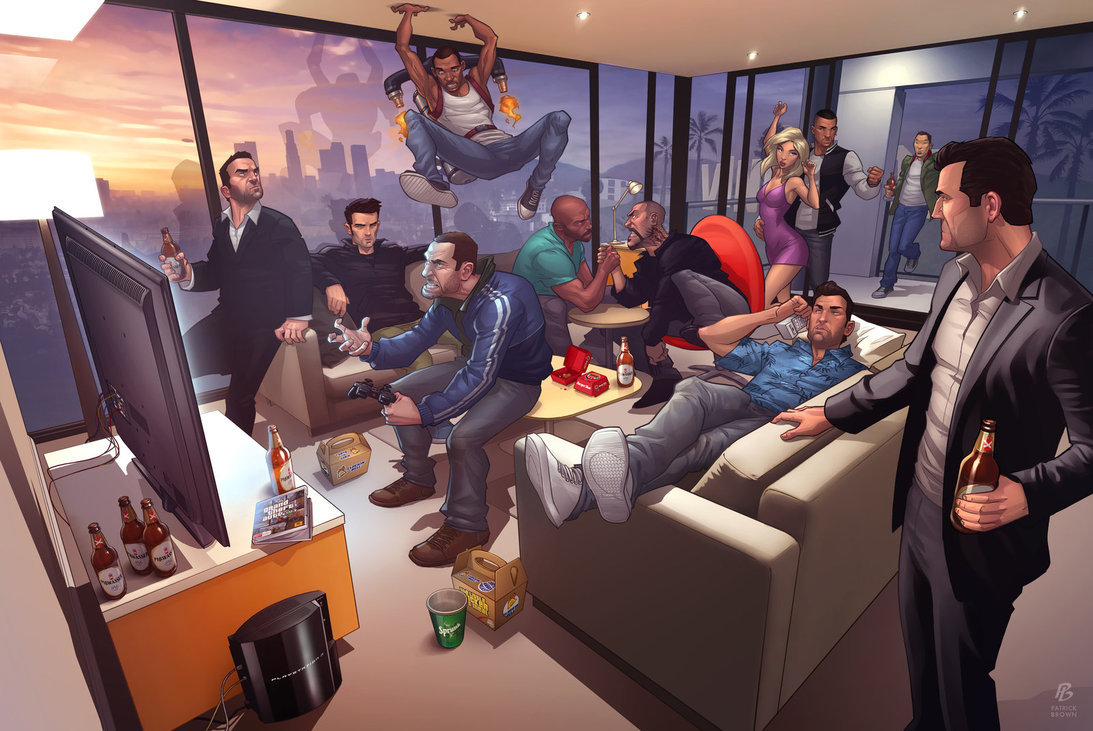 Grand Theft Auto Legends 2012 By: Patrickbrown List of all protagonists.  Toni Cipriani - Liberty City Stories Claude Speed - GTA III Carl Johnson - San Andreas Niko Bellic - GTA IV Victor Vance - Vice City Stories Johnny Klebitz - Lost and Damned Tommy Vercetti - Vice City Luis Lopez - Ballad of Gay Tony Huang Lee - Chinatown Wars Albert De Silva - GTA VToni Cipriani - Liberty City Stories Claude Speed - GTA III Carl Johnson - San Andreas Niko Bellic - GTA IV Victor Vance - Vice City Stories Johnny Klebitz - Lost and Damned Tommy Vercetti - Vice City Luis Lopez - Ballad of Gay Tony Huang Lee - Chinatown Wars Albert De Silva - GTA V