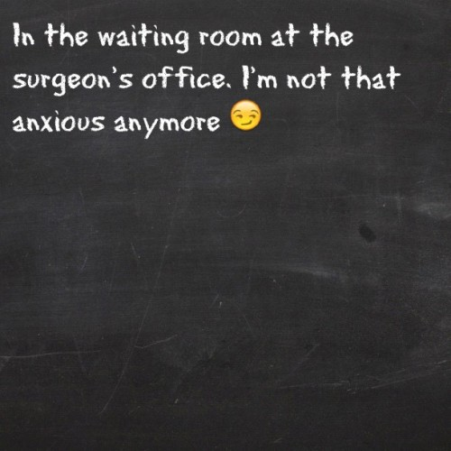 #tweegram #surgery #waiting #brokenhand #anxiety #anxious  (Taken with Instagram)