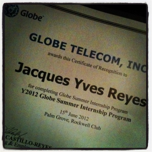 Graduated from GSIP 2012 #globetelecom  (Taken with Instagram)