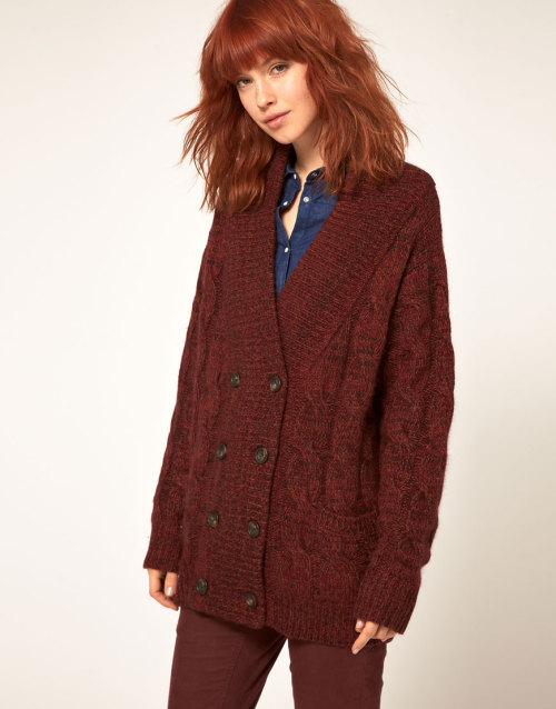 United Bamboo Cable Knit Cardigan in TweedMore photos & another fashion brands: bit.ly/Jloych