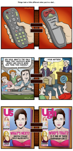 collegehumor:  Dad-O-Vision [Click to continue reading] Things look a little different when you're a dad  Dads are cool.