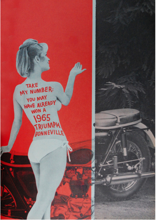 hollyhocksandtulips:  Triumph motorcycle advertisement, 1965