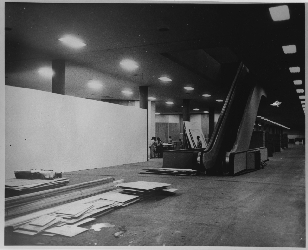 installing the 1967 sao paolo biennale. the exhibit's only appearance in the USA was at the rose.