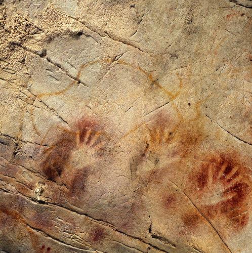 centuriespast:  Hand stencils at the El Castillo Cave in Spain have been dated to have been created earlier than 37,300 years ago, making them the oldest cave paintings in Europe.