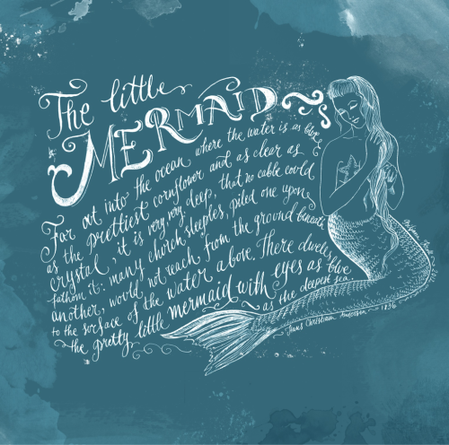 peonyfields:  The little mermaid,illustration by Biljana Kroll