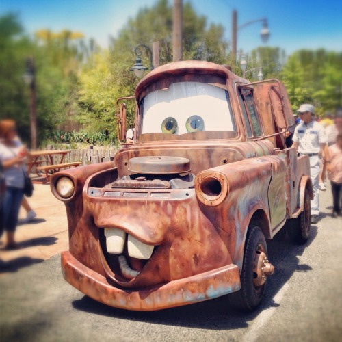 "Mater says: ""Happy Cars Land Day!"""