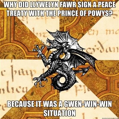 fyeahhistorymajorheraldicbeast:  Referring to the 1212 Peace Treaty between Gwenwynwyn ap Owain and Llywelyn ap Iorwerth
