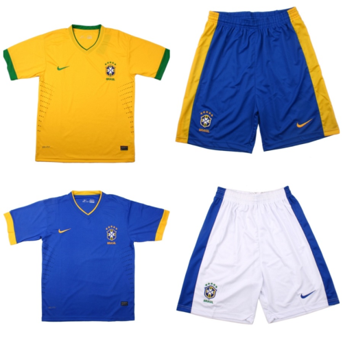2012-2013 Brazil Home and Away Jerseys and Shorts. $75 (no name, no number). $80 (with name and number). Size: S, M, L, XL