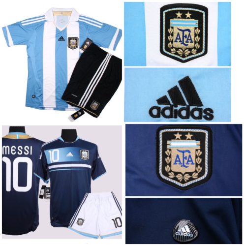 2011-2012 Argentina Home and Away Jerseys and Shorts. $75 (no name, no number). $80 (with name and number). Size: S, M, L, XL