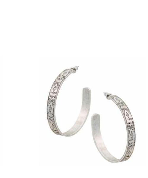 Low Luv erin wasson afghani engraved hoop earrings