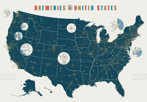 "Win a copy of our our ""Breweries of the United States"" poster from our friends at Serious Eats."