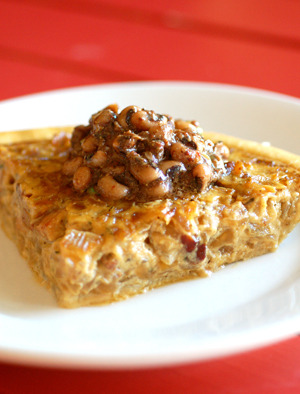 Lunch Idea: Vidalia Onion and Tasso Tart A seasonal dish courtesy of Taqueria del Sol chef David Waller, from our weekly recipe newsletter Photograph by Jeff Moore of Garnish Food Photography, courtesy of Green Olive Media