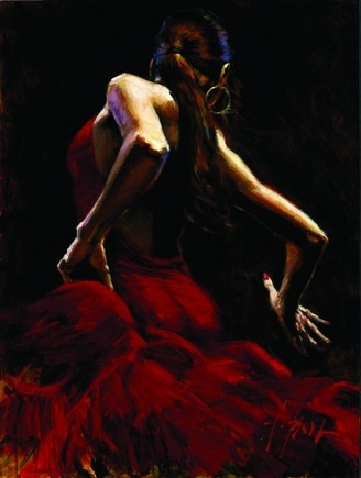 """Dancer in Red"" by Fabian Perez"