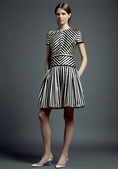 tmagazine:  Playful jailhouse stripes at Valentino.