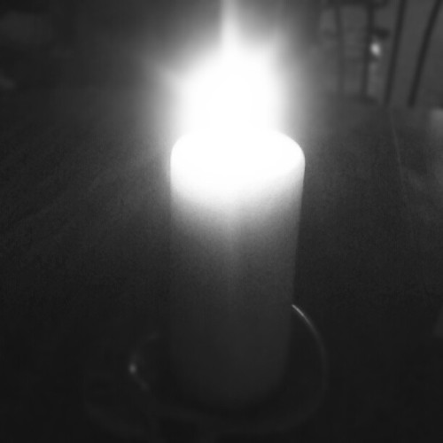 Anniversary dinner candle  (Taken with Instagram)