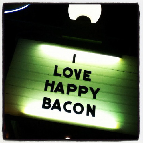I love happy bacon. photograph by Hilary McHone :: via hilabean