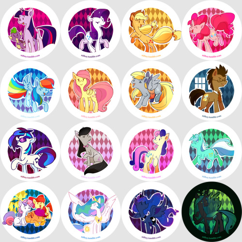 1st set??? of pony buttons!!!