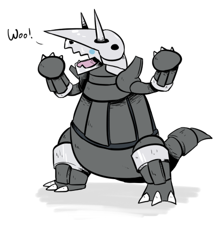 #306-Aggron Wooo yeahh. Tyranitar and Aggron are best frans 4ever.