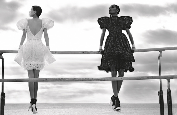 realmofthesenses:  Saskia de Brauw & Joan Smalls for Chanel Spring 2012 Campaign by Karl Lagerfeld
