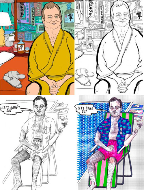 nevver:  Bill Murray Coloring Book  OH MY.