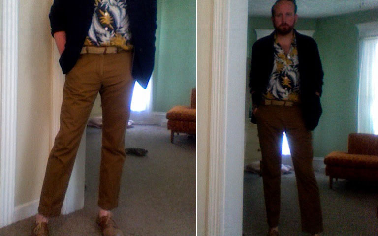 going for prada, but end up looking like a beach boy. I DON'T HATE IT!