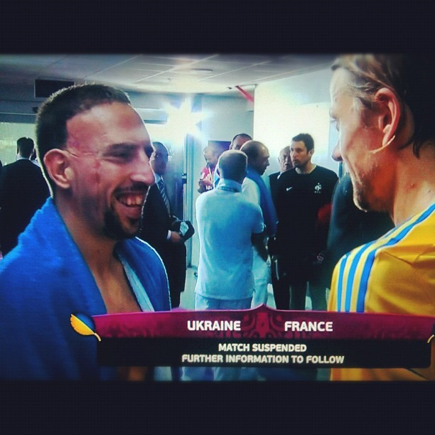 #Ribery #France with #Timochyck #Ukraine #euro2012  (Taken with Instagram)