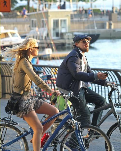 erinheathertonangelwings:  Erin & Leo on a  bicycle ride together on Thursday (June 14) in New York City.