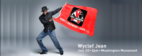 "Musician and humanitarian Wyclef Jean has joined the ""Keep the Promise"" AIDS March on Washington as the headliner on July 22nd in Washington D.C. The March will take place on the opening day of the International AIDS Conference - in the U.S. for the first time in 20 years. Join us! Entrance is FREE.  See Wyclef perform and lend your support to the worldwide fight to end AIDS. If you can't be there in person, you can sign on to support the March.  More info at www.keepthepromise2012.org."