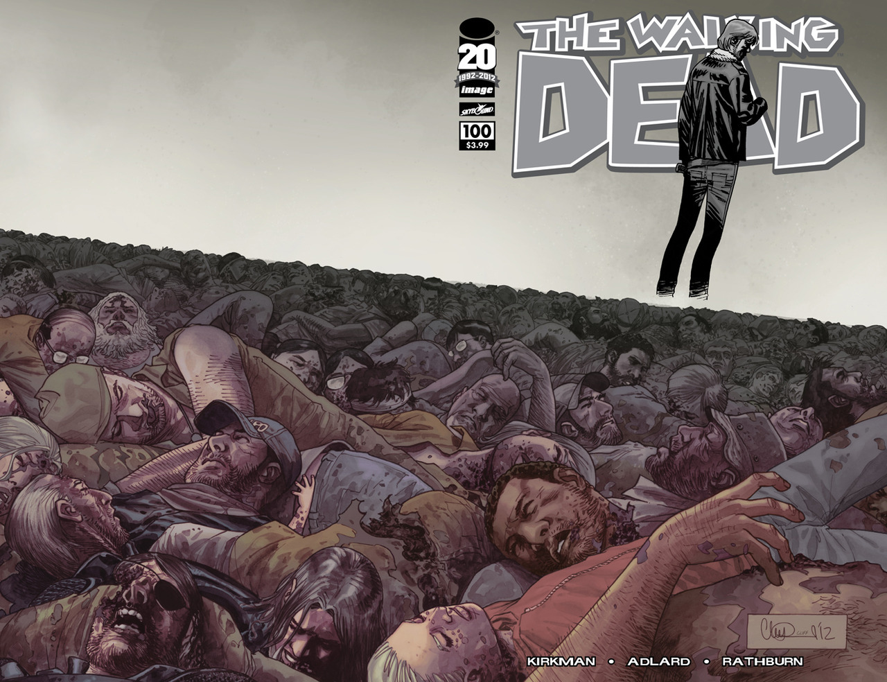 All of THE WALKING DEAD covers! (There is also a black-and-white version of the Adlard wrap-around.)   A: Charlie Adlard B: Marc Silvestri C: Frank Quitely D: Todd McFarlane E: Sean Phillips F: Bryan Hitch G: Ryan Ottley H: Charlie Adlard  If you are not viewing this on Tumblr, click here to see all of the images.