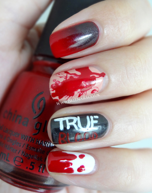 britnails:  True Blood nail art