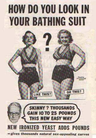 lacigreen:  omisaidit:  oh how the times have changed   Dear people, Your bodies weren't good enough back then and they still aren't good enough now. Love, Society
