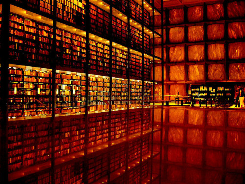 exhalelight:  Yale Rare Book Library by N. Hollot on Flickr.