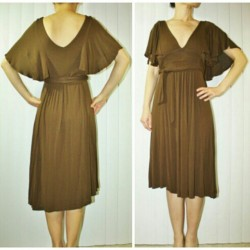 Vintage inspired flutter sleeve dress, Small Price: $8.99 Please click here to shop on my eBay auction page. SOLD