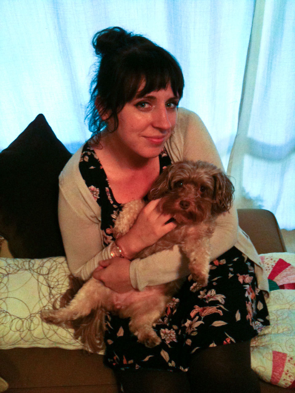 Fuzzy Animal Friday - Me and Annie edition, Because Annie makes everything better.