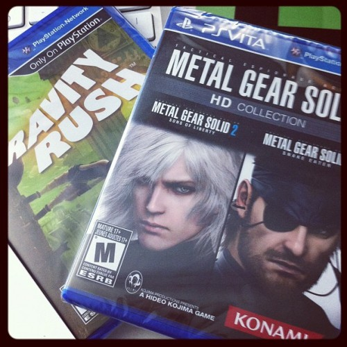 Look what came! #metalgearsolid #psvita #gravityrush #hideokojima (Taken with Instagram)