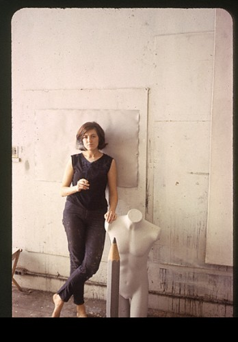 Vija Celmins, in her Venice studio, c. 1966. Oakwood, Rose Avenue, the Boardwalk, the Canals, and Abbot Kinney Boulevard Venice: A Contested Bohemia in Los Angeles by Andrew Deener