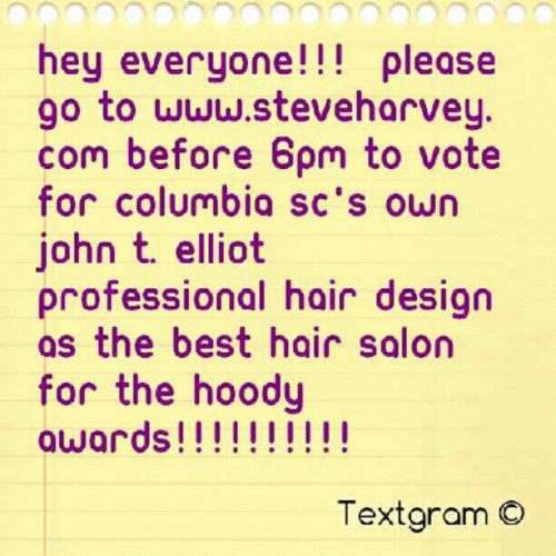 Please vote for my hair salon!!!!! (Taken with Instagram)