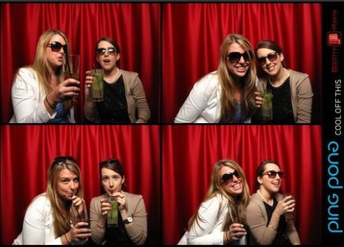 smile friday: photobooth edition. well, I guess only the top right counts, since Sarah and I failed miserably at looking cute in two out of four of these pics. ah, well.