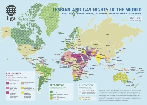 ILGA Releases 2012 Report On Gay And Lesbian Rights Worldwide Click here to enlarge.