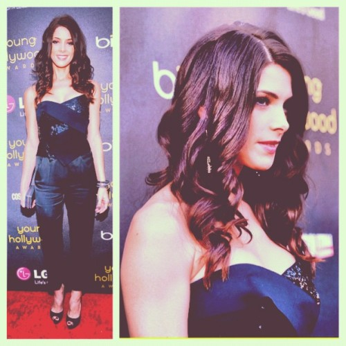 "Ashley Greene in Donna Karan Fall '12 at the ""Young Hollywood"" Awards last night. Assist Stylist: Bryce Anthony Von Furstenberg #YHA (Taken with Instagram)"
