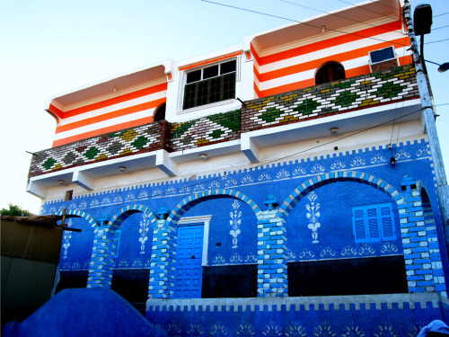 nubiaat:  A Nubian house in Gharb Sehiel village, Aswan منزل نوبي بقرية غرب سهيل، أسوان Picture by  © anozer