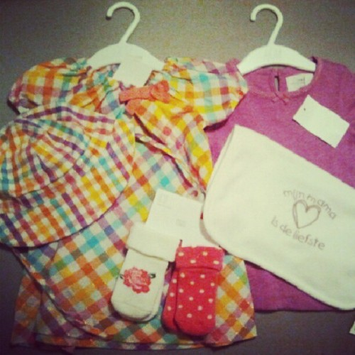 What i bought for baby girl. Argh why d socks xde in my size? (Taken with Instagram)