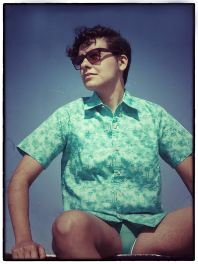 Waikiki Vacation Shirt 1950's resort wear is reinvented with this relaxed slim-fit button down. Perfectly suited for every easy-going boi, this vintage Hawaiian print will transport your style to a vibrant and chill place. Our Waikiki Vacation Shirt will quickly become your summer wardrobe staple. PRE-ORDERS START JUNE 15th *Special Pre-Order Prices For A Limited Time*  shop || Marimachobk.com || queer fashion