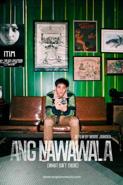 "Here's the first poster for Marie Jamora's directorial debut and Cinemalaya Independent Film 2012 Finalist ""Ang Nawawala"" (What Isn't There), starring Dominic Roco, Dawn Zulueta, Felix Roco, Boboy Garrovillo, Mercedes Cabral, and Marc Abaya, and featuring the music of Sandwich, Pedicab, Itchyworms, Tarsius, Outerhope, The Strangeness, and more.  Gibson Bonifacio stopped speaking when he was a child. Now twenty years old, he returns home to Manila from his studies abroad, his first visit in three years. He finds his family trying to keep it together, his mother still hurting from a tragic loss in the past. Against the backdrop of the vibrant local music scene, his childhood best friend tries to reconnect with him, while he unexpectedly finds a chance at a first, real romantic relationship. Amidst the holidays, Gibson reconsiders and redefines his relationships with his family, his friends, and with himself. (Read more on SPOT.ph)  Visit the Ang Nawawala Tumblr page for updates. (via chefgoldblum)"