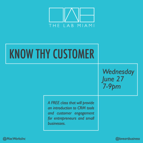 Free class at The LAB! Improve your customer service and engagement. Find out more and register here or visit our classes section.  Taught by Tito Lauro of MacWorksInc.