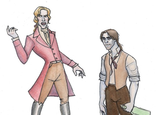 crazygreenflamingo:  Enjolras and Grantaire from Les Mis Am I the only one who ships these two?  Because I do.  I ship it hard