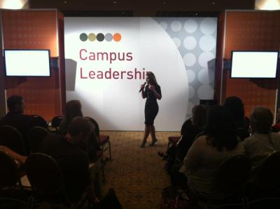 "Melissa Lentz, SVP of Account & Strategy Services, presents our new study, ""The New College Orientation: How Social Media Has Revolutionized Back-to-School,"" at the annual Barnes & Noble College ""Back-to-Campus Show"" in Orlando. If you haven't read the report, download the full Whitepaper at http://Meet2015.com/!"